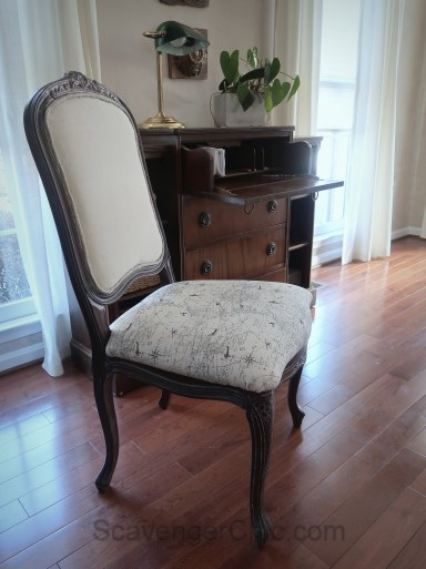 Upholstered French style chair makeover diy-023