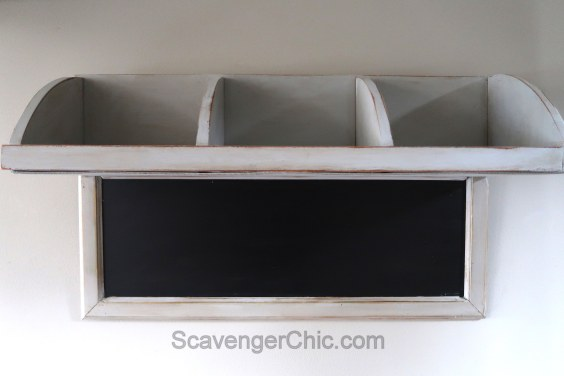 Repurposed Corner Shelf, chalkboard diy