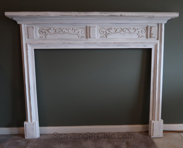 Transform a mirror frame to fireplace surround and mantel