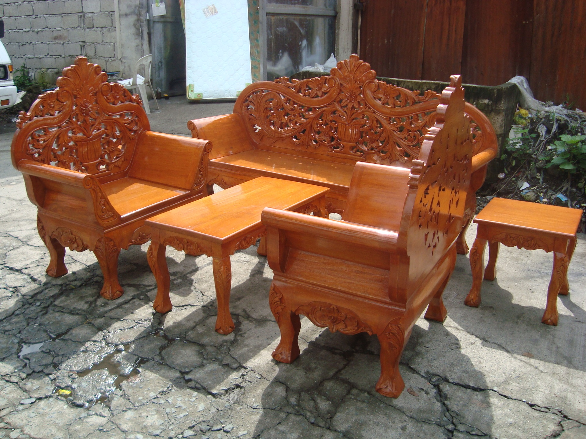 Wooden Sala Set Rizal Wooden Sala Set