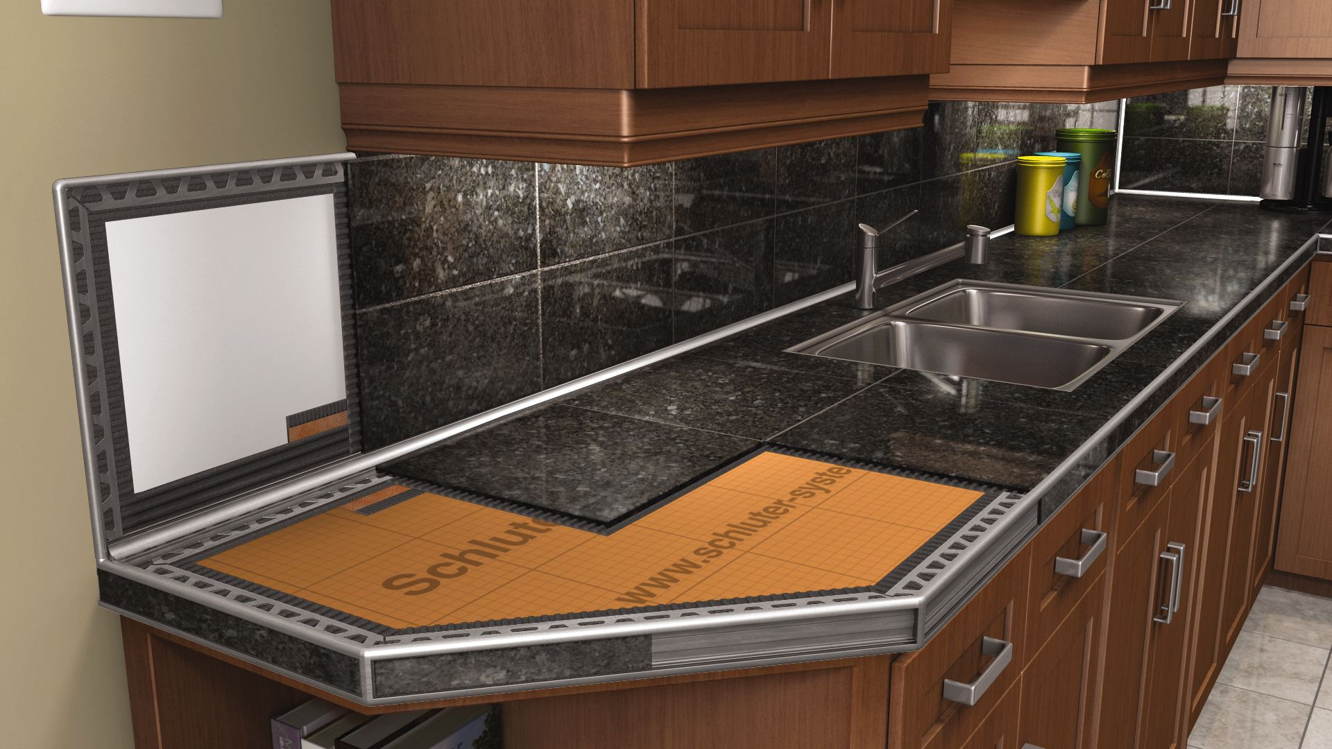 Kitchen Countertop Edges Countertops Schluter