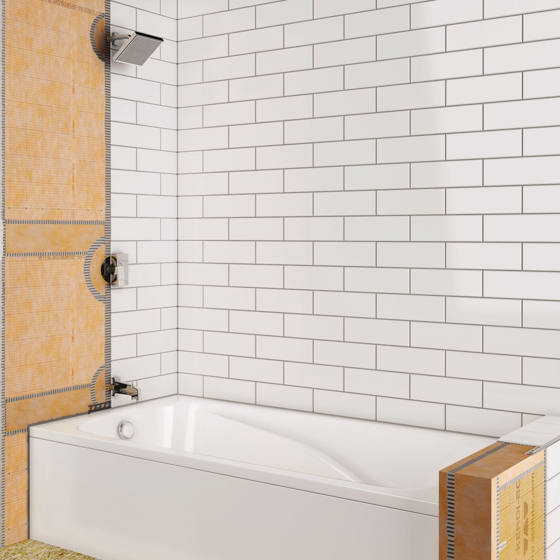 Shower With Bathtub Schluter Ca