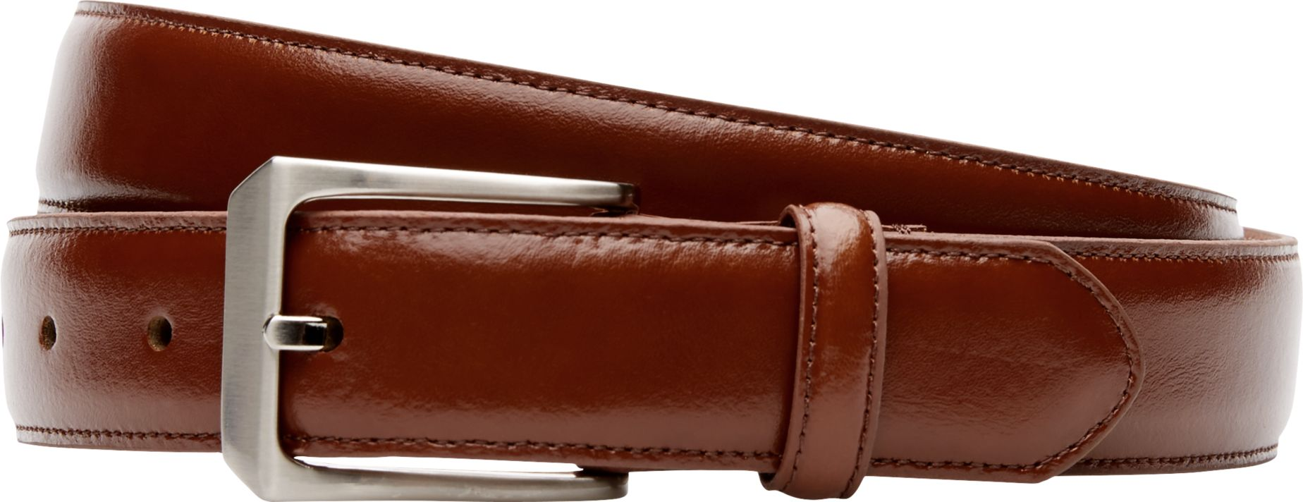 Cognac Bank Jos A Bank Glazed Leather Belt Big Tall