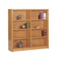 "A. Joffe Oak Double Wide Bookcase - 60"" - Sam's Club"