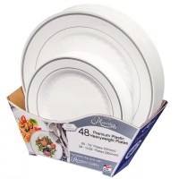 Masterpiece Premium Plastic Heavyweight Plates (48 ct ...