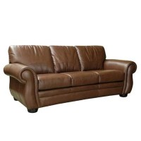 Florence Leather Sofa & Recliner - Chestnut - Sam's Club