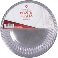 "Member's Mark Clear Plastic Plates - 9""/40 ct."
