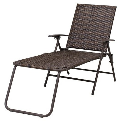 Target Home Rolston Wicker Patio Chaise Lounge Rolston Wicker Patio Folding Chaise Lounge - Thr... : Target