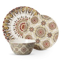 THRESHOLD ROUND 12PC SUN MEDALLION DINNERWARE SET