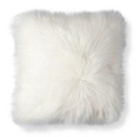 Threshold White Fur Decorative Pillow : Target