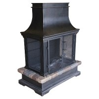 Bond 66594 Sevilla Wood-Burning Fireplace Black/Natural ...