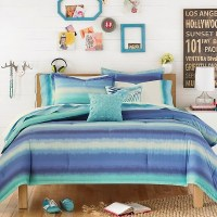 Electric Beach Comforter Set Blue