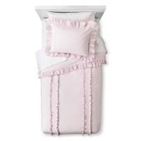Ruffle Duvet & Sham Set - Pink - Simply Shabby C... : Target