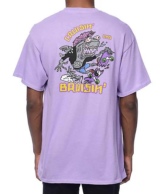 A-Lab Cruisin n Brusin Purple T-Shirt Zumiez