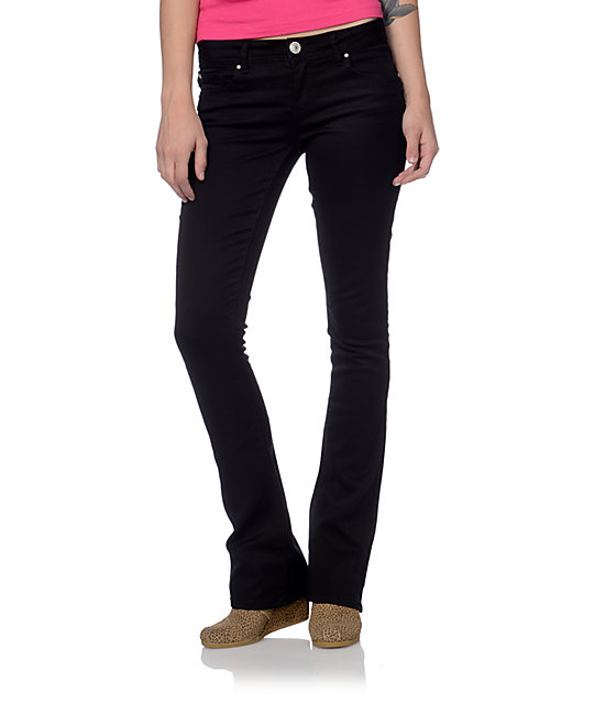 Black Denim Bootcut Jeans Bbg Clothing