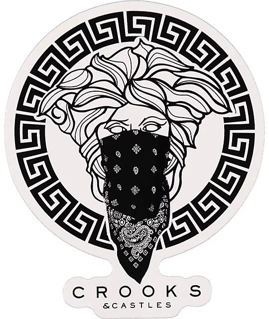 Gangsta Girl Iphone Wallpaper Crooks And Castles Greco Sticker Zumiez Ca