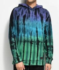 Empyre Reef Purple, Green & Teal Tie Dye Hoodie | Zumiez