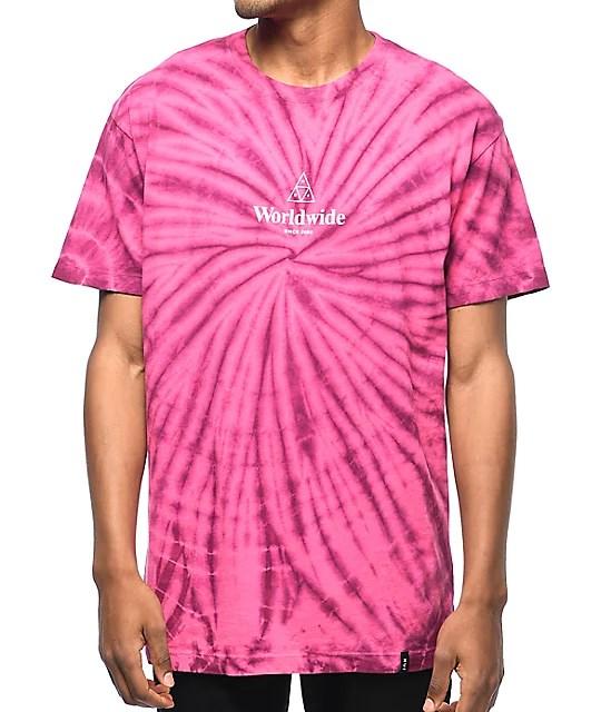 HUF Spiral Purple & Pink Tie Dye T