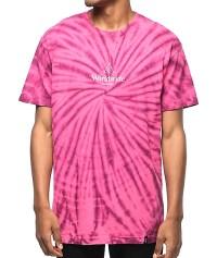 HUF Spiral Purple & Pink Tie Dye T-Shirt | Zumiez