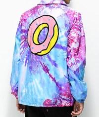 Odd Future Purple & Pink Tie Dye Coaches Jacket | Zumiez