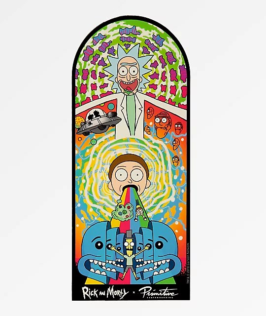 Primitive x Rick and Morty Collage Sticker Zumiez