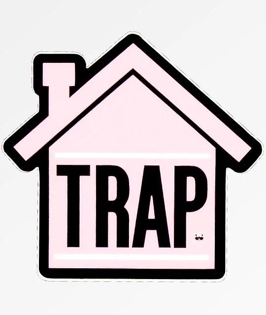 Pink Girl Cartoon Wallpaper Stickie Bandits Trap Pink House Sticker Zumiez