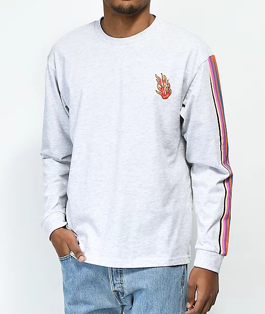 Teddy Fresh Stripe  Flame Long Sleeve T-Shirt Zumiez