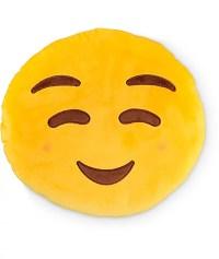 Throwboy Blush Emoji Pillow
