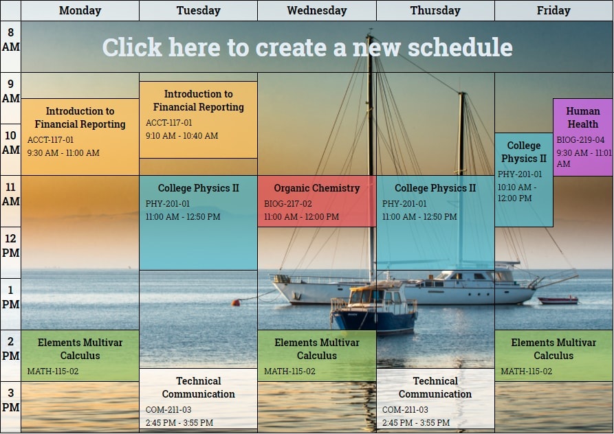 Free online schedule maker Plan weekly activities - daily schedule maker