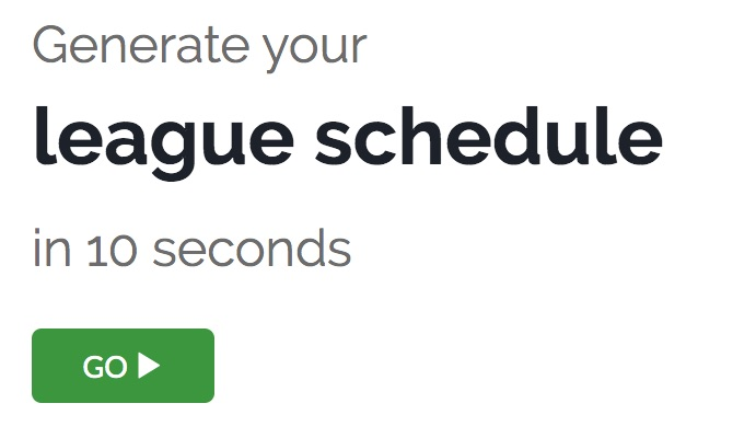 How To Make A League Schedule colbro - how to make a league schedule