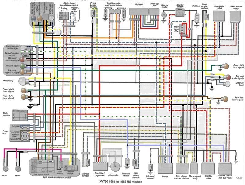 1982 Yamaha Virago 750 Wiring Diagram - Wwwcaseistore \u2022