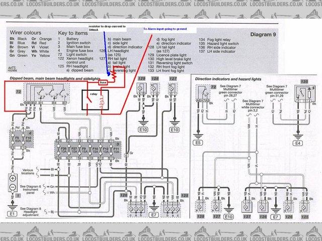 99-04 Mustang Headlight Wiring Diagram