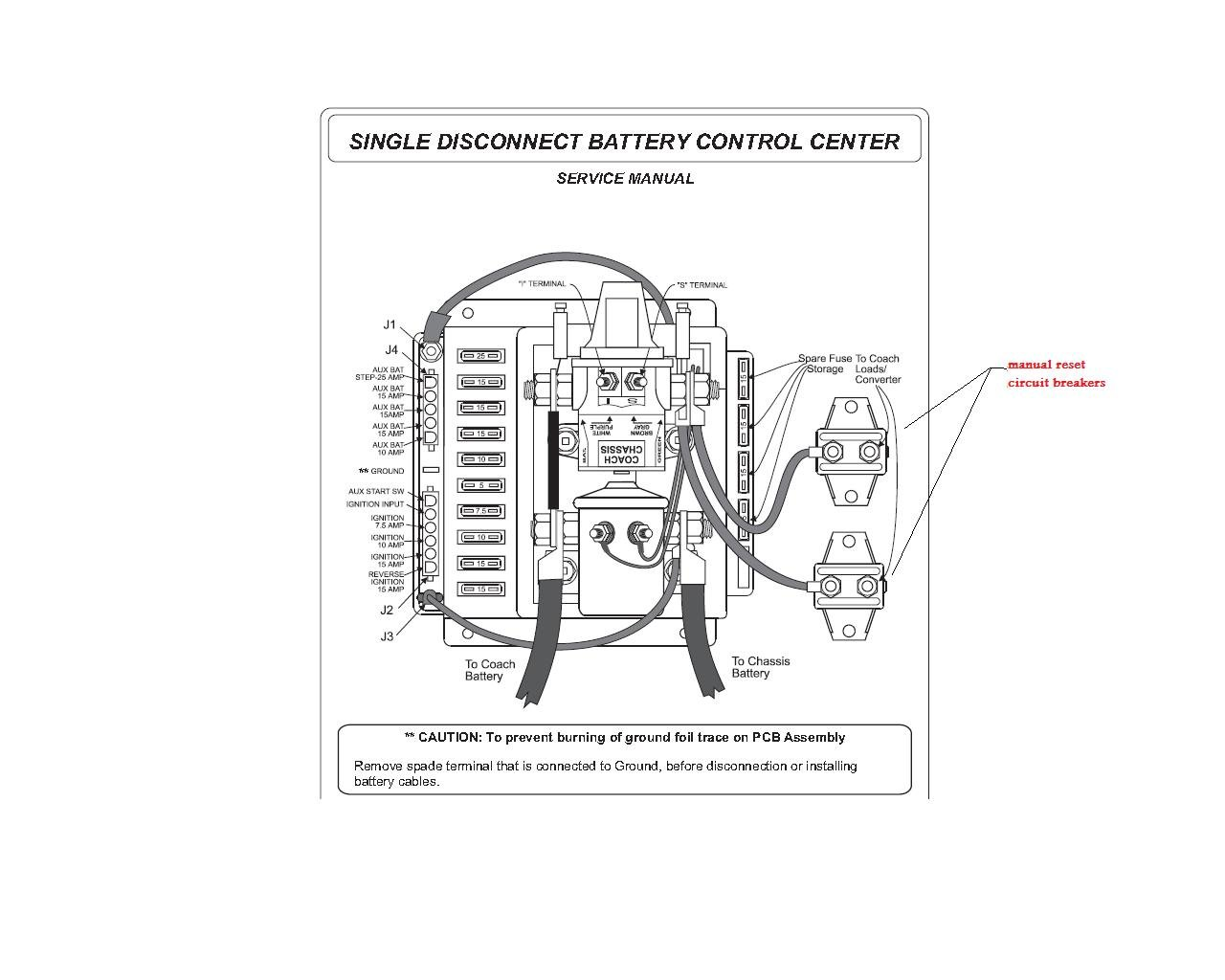 coach battery wiring diagram