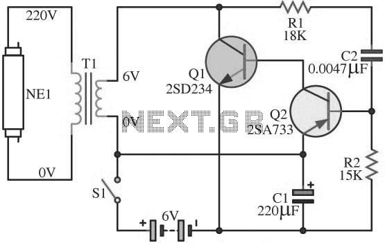 fluorescent ballast starter wiring diagram