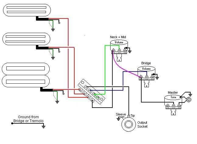dimarzio area wiring diagram