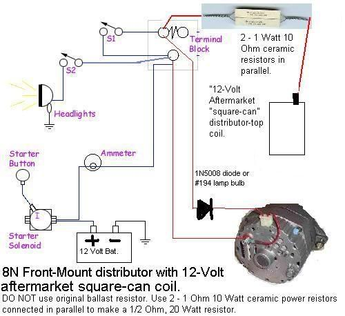 Early 8n 12v Wiring Diagram