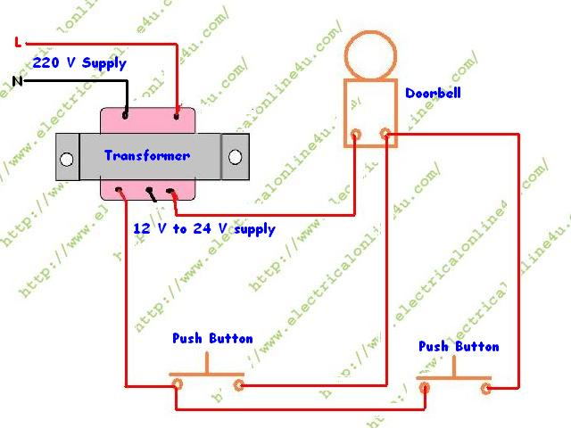Diagram For Wiring Two Doorbells One Button Online Wiring Diagram