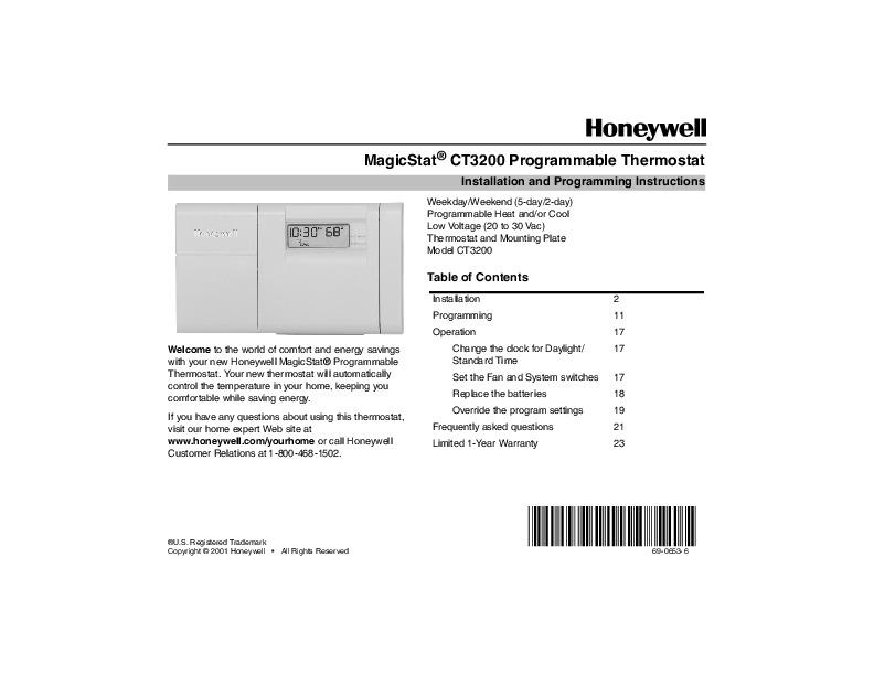 Honeywell Rth221 Wiring Diagram Online Wiring Diagram