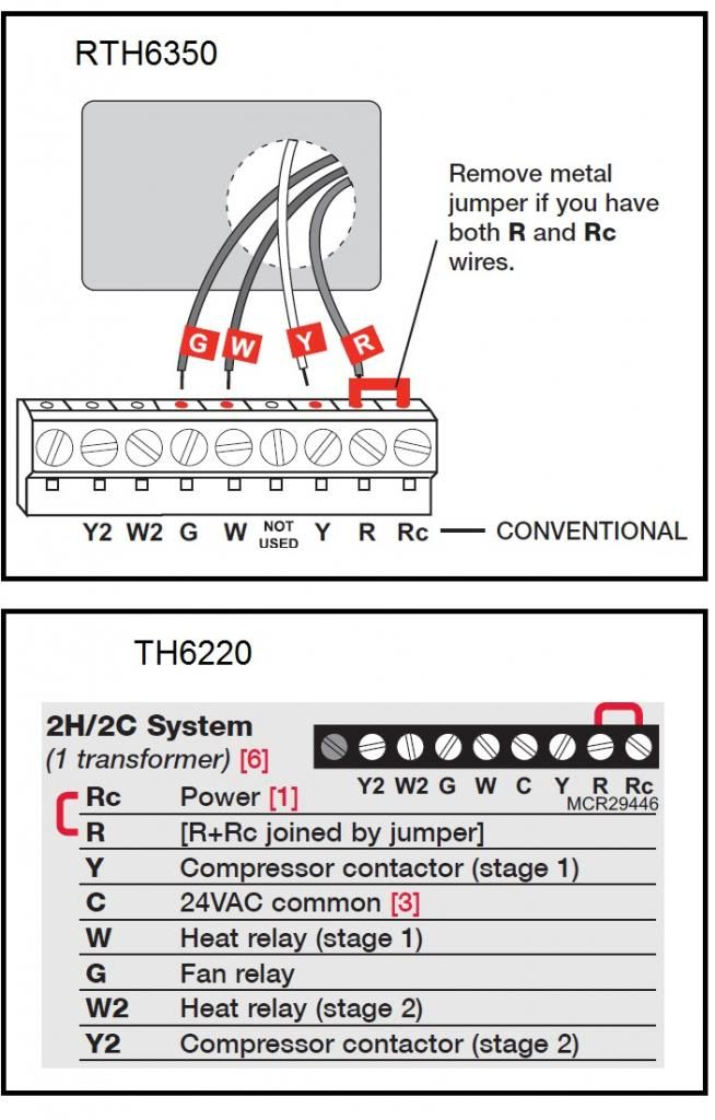 Honeywell Thermostat Wiring Diagram Rc Wiring Diagrams