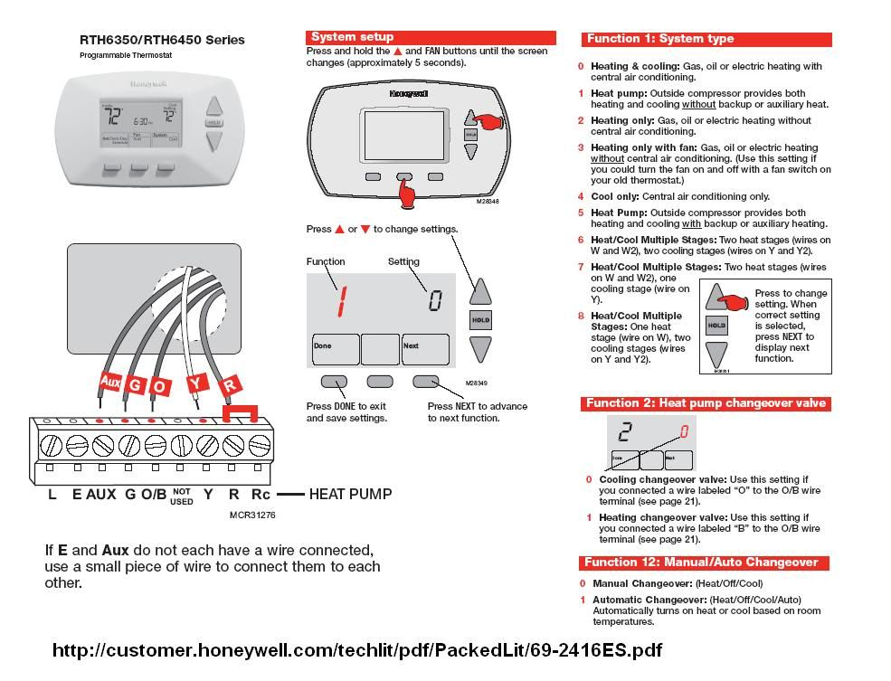 For Heating Cooling Honeywell Thermostat Wiring Diagram Honeywell