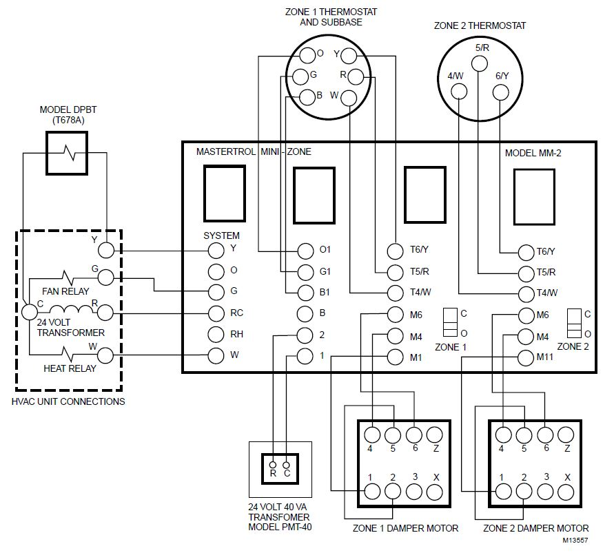 honeywell heat cool thermostat wiring diagram