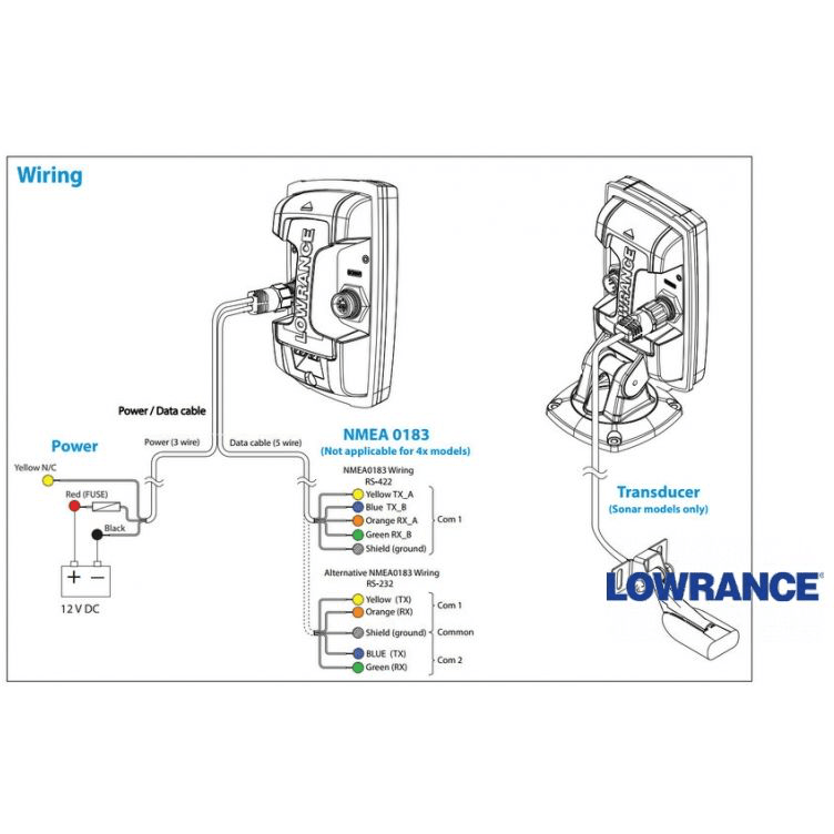wiring diagram for lowrance fish finder