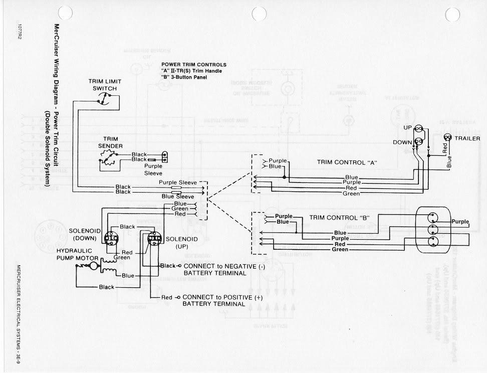 Mercruiser Power Trim Limit Switch Wiring Diagram
