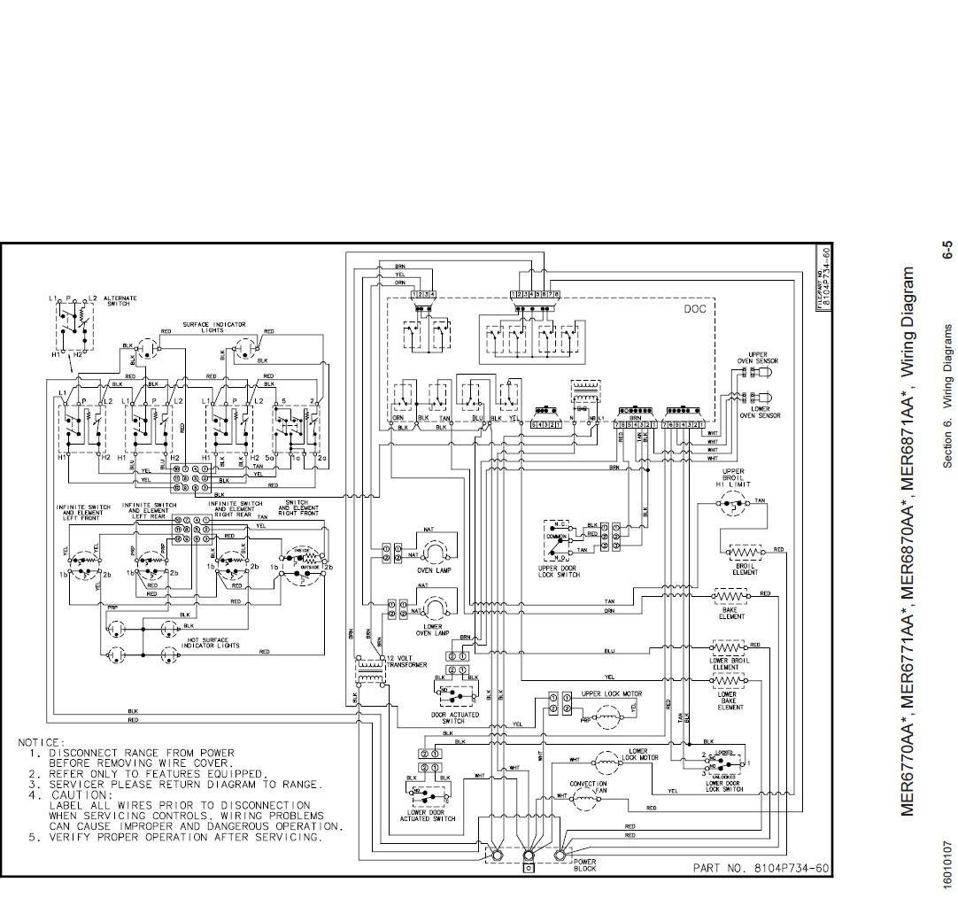 frigidaire double wall oven wiring