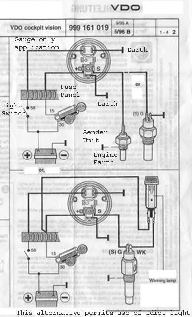Vdo Water Temp Gauge Wiring Diagram