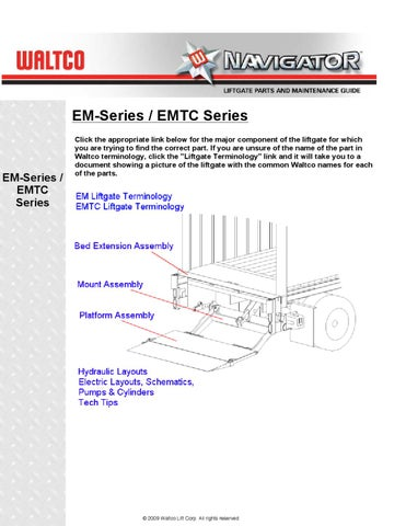 Waltco Liftgate Wiring Diagram