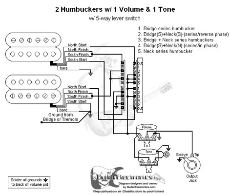 Wiring Diagram Dimebucker One Volume One Tone