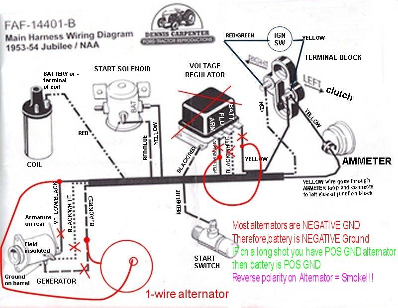 Wiring Diagram For 1953 Ford Jubilee 12v Alternator