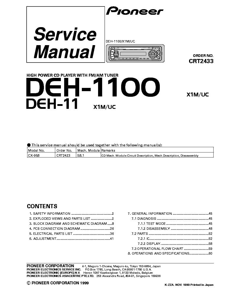 Pioneer Deh 245 Wiring Harness Wiring Diagram