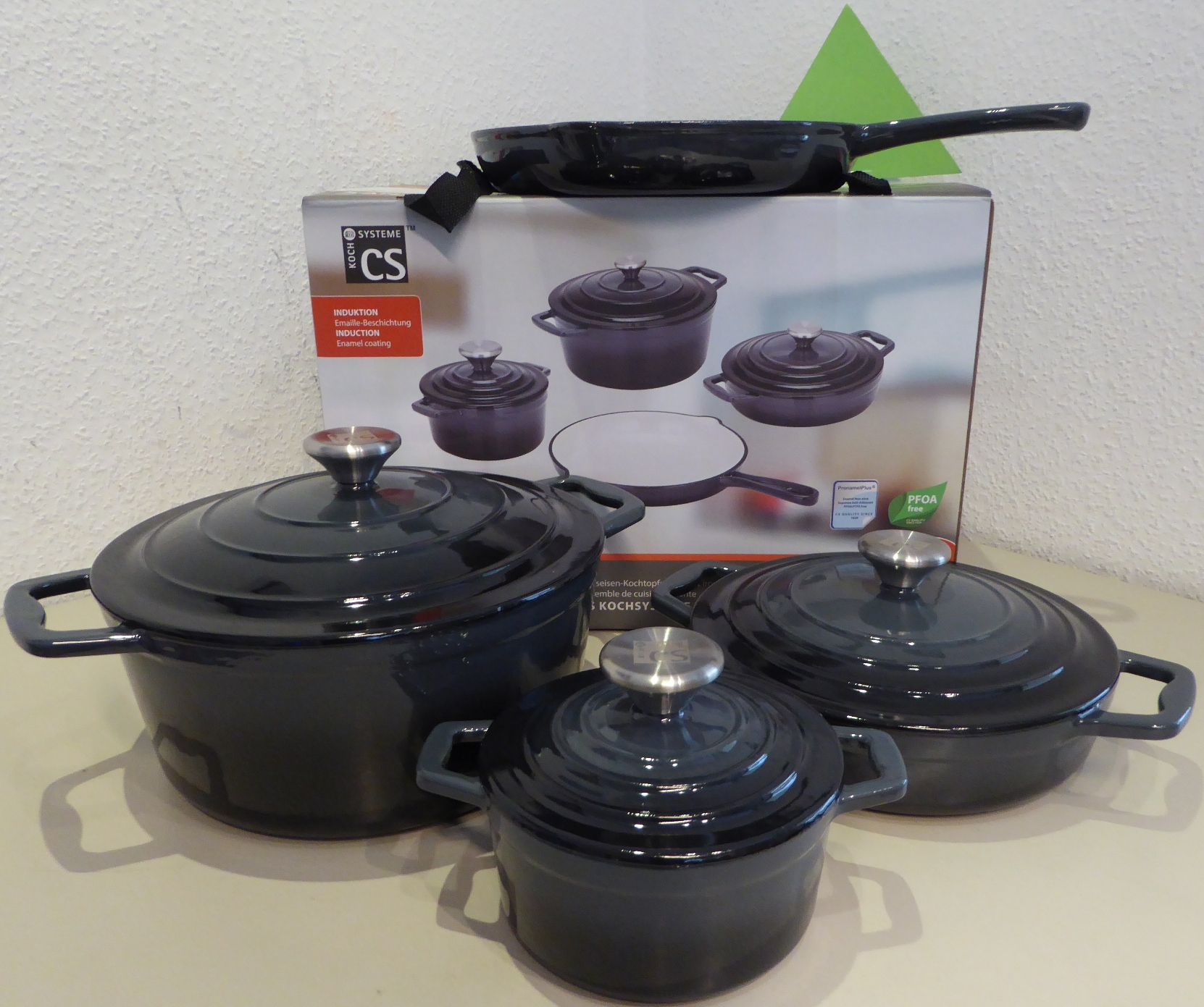 Induktion Topfset Carl Schmidt Cookware Set Cast Iron Xanten Black Grey Induction